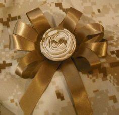 USMC Rosette Bow and Headband Only  $7.50 + Save 15% @GigglingHeavens @bonanzamarket