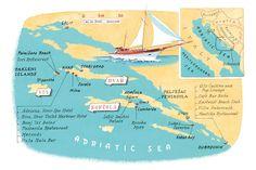Sean Gleason - Croatia Islands map