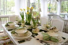Décoration simple et élégante en blanc et en vert