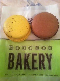Carmelized Banana and Chocolate Macrons from Bouchon Bakery, Yountville, CA