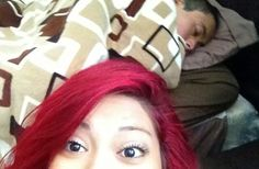 Eight billion people in the world, and i only have love for you. :P #redhair #lovey #iloveyou #thoseeyesdoe