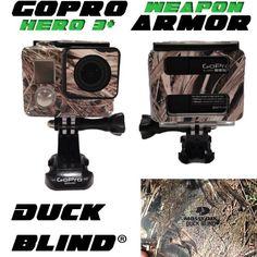 Awesome GoPro Hero 3+ Housing Skin Armor - Mossy Oak Duck Blind