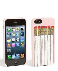 KATE SPADE NEW YORK PENCIL CASE IPHONE 5 HYBRID HARDSHELL CASE 8ARU0220 NIB $40 #KATESPADENEWYORK