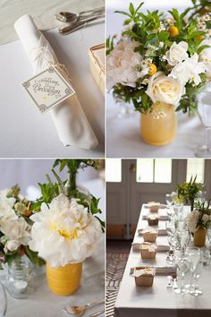 yellow, white & green summer wedding ideas! Photo: Oh, Darling!