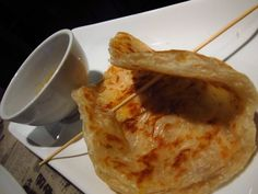 Roti Canai. Hawkers Asian Street Fare.