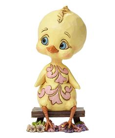 Yellow Chick Figurine by Jim Shore.   Yellow Chick Figurine #zulily #zulilyfinds
