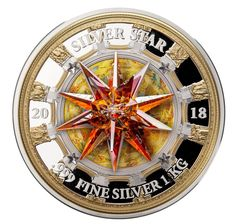 2018 One Kilo Fine Silver Coin - Giant Red Magma Swarovski Crystal Honouring Saint Isaac& Cathedral in Saint Petersburg Canadian Coins, Foreign Coins, Gold Money, Coin Worth, Crystal Fashion, World Coins, High Art, Coin Collecting, Silver Coins