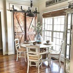 rustic dining room Dining Nook, Dining Room Design, Dining Room Furniture, Dark Furniture, Furniture Ideas, Nook Table, Dining Tables, White Dining Set, Small Dining
