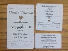 magari un giorno Wedding participation in a shabby style, with white cardboard, weight 300 gr. is composed of: -Main call, dim. x cm -Lunch invitation, Dim. x cm -Wedding List Tick Lunch Invitation, Invitation Cards, Invitation Ideas, Wedding Stationery, Wedding Invitations, Wedding List, Wedding Announcements, Kraft Envelopes, Just Married