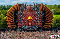 Mysteryland, Haarlemmermeer, Netherlands – Create your personalized package to get to the festival on August and Stage Lighting Design, Stage Design, Dance Stage, Stage Set, Bühnen Design, Event Design, Carnival Festival, Art Festival, Raves