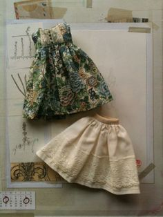 Liberty Empire Dress set for Blythe- Green