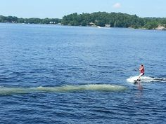 My sister on water skiis
