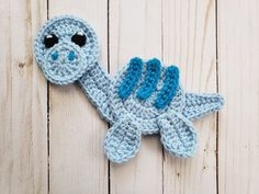 Jurassic Classic Vol. 2 Applique Pack- Crochet Pattern Only- Dinosaurs- Baby Dinos- Baby Dinosaurs- Stegosaurus- Crochet Applique Pattern Crochet Beard, Crochet Bib, Crochet Faces, Baby Blanket Crochet, Crochet Crafts, Crochet Projects, Crochet Appliques, Crochet Animals, Crochet Dinosaur Pattern Free