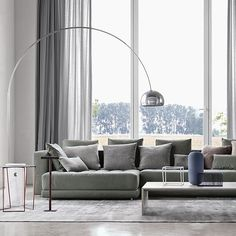 First released in 1962 it has become an undoubtable design icon today; the Flos Arco Floor Lamp by revered designer Achille Castiglioni. Curved Floor Lamp, Arco Floor Lamp, Led Floor Lamp, Modern Floor Lamps, Berlin Design, Luminaire Design, Mid Century Modern Furniture, Beautiful Homes, House Beautiful