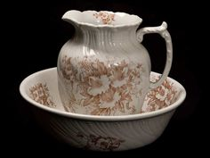 19TH CEN PITCHER AND BOWL SET BY DEFENDER - ENGLISH CIRCA 1875