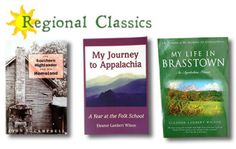 """These three books are must reads for Folk School enthusiasts. """"The Southern Highlander And His Homeland"""" by John C. Campbell, """"My Journey to Appalachia: A Year at the Folk School"""" by Eleanor Lambert Wilson, """"My Life in Brasstown: An Appalachian Memoir"""" by Eleanor Lambert Wilson 