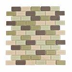 Catania Brick Mosaic Glass Tile 4mm