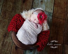 Leighton Heritage Newborn Lace Stretch Wrap Soft Swaddle Photography Prop. $17.49, via Etsy.