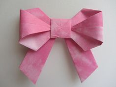 Directions for a cool origami bow...
