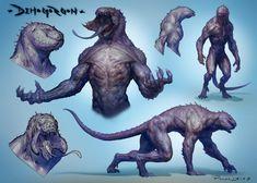 Monster Concept Art, Alien Concept Art, Creature Concept Art, Fantasy Monster, Monster Art, Creature Design, Mythical Creatures Art, Weird Creatures, Fantasy Character Design