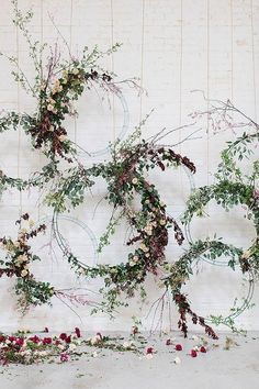 We are in floral hoop HEAVEN over here as we gaze at these fun wedding decor and flower ideas. This wedding trend is here to stay, and the ceremony backdrop pictured here is the proof in the pudding! Ceremony Arch, Wedding Ceremony Decorations, Wedding Centerpieces, Arch Wedding, Wedding Ideas, Wedding Backdrops, Decor Wedding, Wedding Ceremonies, Centerpiece Ideas