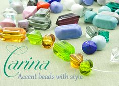 We call them Carina, Acent Beads with Style! Transparent and Opaque Accent Beads authentic Murano Glass