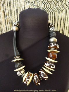 African Queen Dramatic Tribal Art to Wear by MorningDoveDesign, $135.00