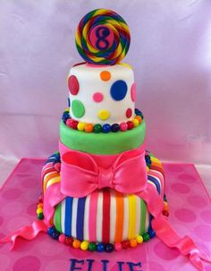 lollipop cake. I love this one toooo!