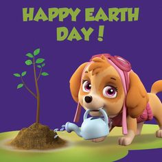 Give a helping paw this Earth Day! Paw Patrol, Happy Earth, Pup, Entertaining, Children, Fictional Characters, Meet, Young Children, Boys