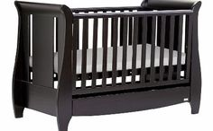 Tutti Bambini Katie Sleigh Cot Espresso Tutti Bambini Katie Cot is visually attractive as well as fully functional and practical with 3 base positions and teething rails. http://www.comparestoreprices.co.uk/baby-cots-and-cot-beds/tutti-bambini-katie-sleigh-cot-espresso.asp