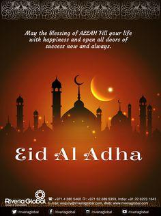 Peace, blessings, faith…May the blessings of Allah be with you. Eid Al Adha Mubarak! Eid Mubarak 2018, Eid Mubarak Quotes, Adha Mubarak, Muslim Love Quotes, Islamic Love Quotes, Companies In Dubai, Group Of Companies, Eid Al Adha Greetings, Real Estate Advertising