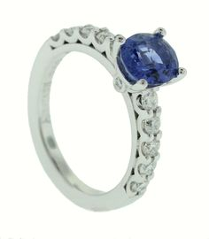 Ceylon Sapphire and Diamond Ring - Brisbane Jeweller - Engagement Rings - MONTASH Jewellery Design - www.montash.com.au