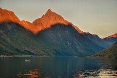 Norangsfjorden, with Slogen (1564m) in the setting sunlight