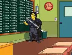 Game of Thrones Simpson Jon snow know's nothing