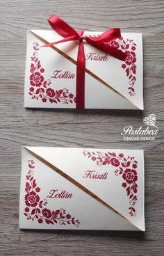 piros félbevágott esküvői meghívó Invitation Cards, Invitations, Gift Wrapping, Gifts, Wedding, Style, Vestidos, Birthday Cards, Weddings