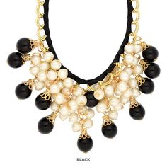 Layered Imitation Pearl Statement Necklace - Assorted Colors at 89% Savings off Retail!