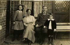 Vintage Real Photo Postcard - Family Group circa 1910s. £3.50, via Etsy.