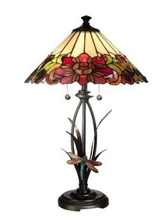 Table Lamp DALE TIFFANY 2-Light Antique Bronze Metal New Hand-Rolled Pull DY-209