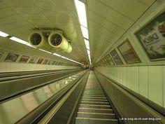 Budapest, escalators du metro