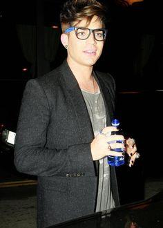 Adam Lambert's shaved sides, not so nice looking.