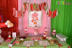Partylicious: {Vintage Strawberry Shortcake Birthday}