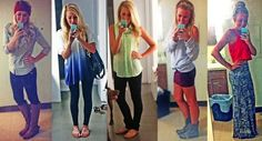 These are six great back to school outfits. These would also be a great ides for the first week plus some, for school