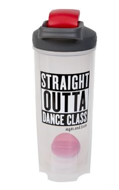 "Sugar and Bruno ""Straight Outta Dance Class"" Shaker Bottle"