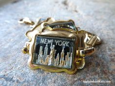 Vintage New York City Souvenir Bracelet by tippleandsnack on Etsy
