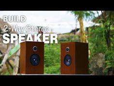 Powerfull 2-Way Stereo Speaker Build - YouTube Built In Speakers, Stereo Speakers, Cheap 3d Printer, Passive Speaker, 2 Way, Apple Tv, Remote, Audio, Building