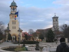 Alba Iulia two Cathedrals Religious Architecture, Place Of Worship, Eastern Europe, Cathedrals, Crosses, Romania, Cottages, Castles, Vacation