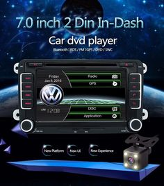 7  2 din Car DVD GPS radio player for Volkswagen VW golf 4 golf 5 6 touran passa