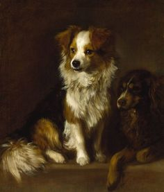 thomas gainsborough - Tristram and Fox his personal dogs