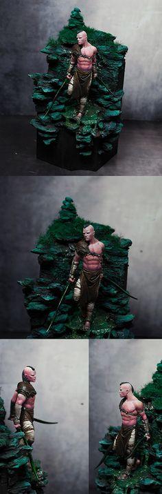 #warrior #art #paint #painter #miniature #elf #wild