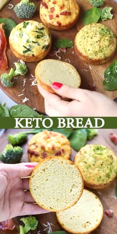 Keto Bread Recipe – Four Ways – quick and simple way to make low carb, individual keto bread rolls, in ramekins and just a few healthy ingredients. Healthy Diet Recipes, High Protein Recipes, Low Carb Recipes, Keto Diet Breakfast, Breakfast Recipes, Pain Keto, Comida Keto, High Fat Foods, Specialty Foods